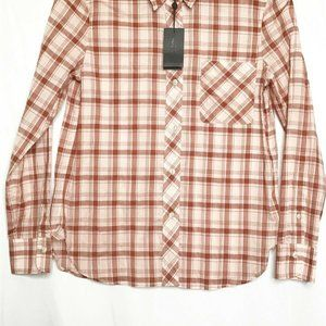 Rag And Bone Men Button Front Shirt S Pink White